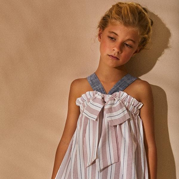 Imagen de Blusa niña de rayas con lazo