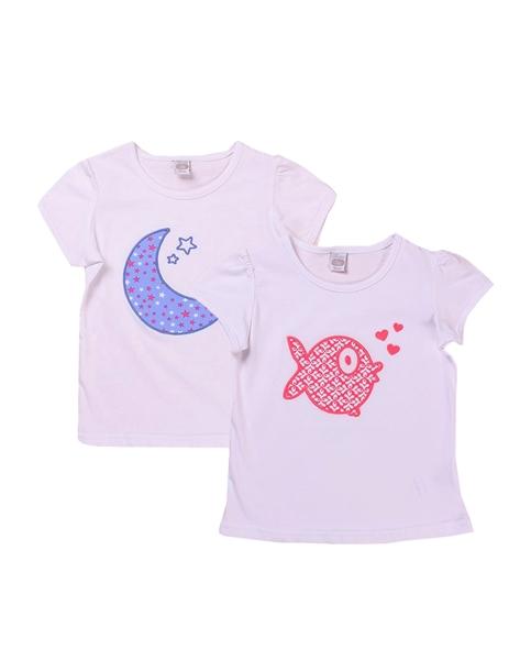 Picture of Conjunto camisetas niña con motivos pez y luna