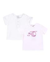 Imagen de Conjunto camisetas bebé niño blanca y con motivo helicóptero
