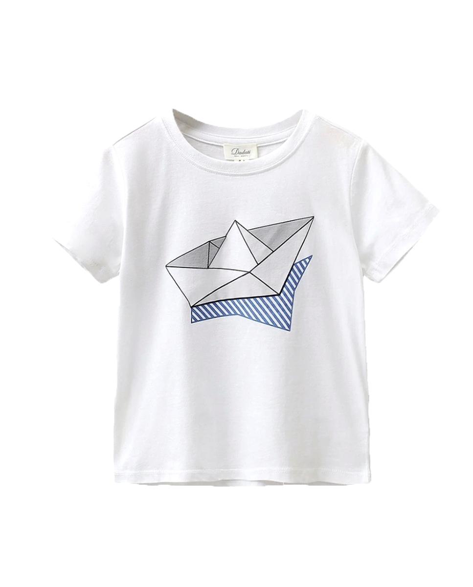 Picture of Conjunto camisetas niño con motivos barco y pez con cola lateral