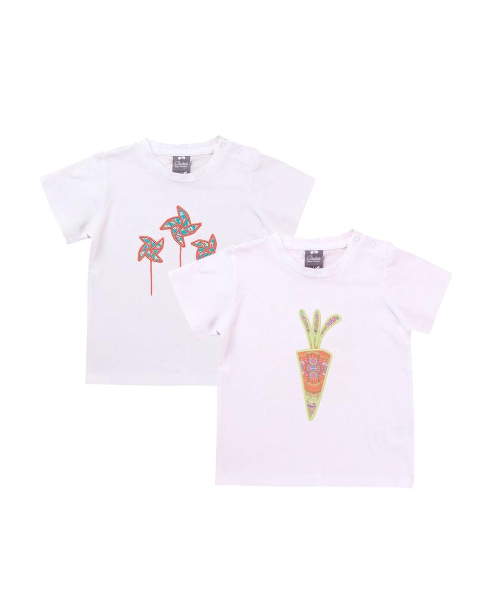 Imagen de Conjunto camisetas niño con motivos zanahoria y molinillos