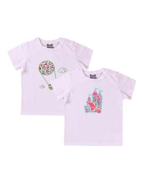 Picture of Conjunto camisetas niño con motivos castillo y globo