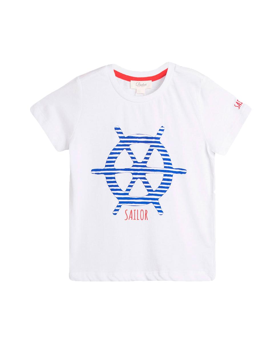 Imagen de Conjunto camisetas niño con motivos timón y hojas