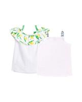 Imagen de Conjunto camisetas bebé niña de tirantes con motivos bicicleta y limones