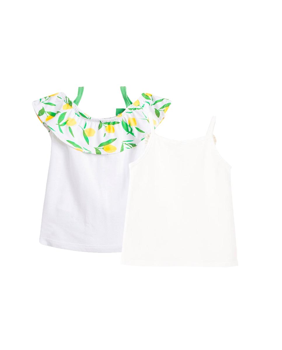 Picture of Conjunto camisetas bebé niña de tirantes con motivos bicicleta y limones