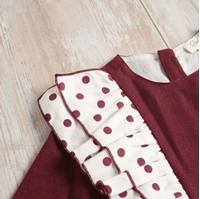 Picture of VESTIDO BEBE FRANELA DE COLOR VINO