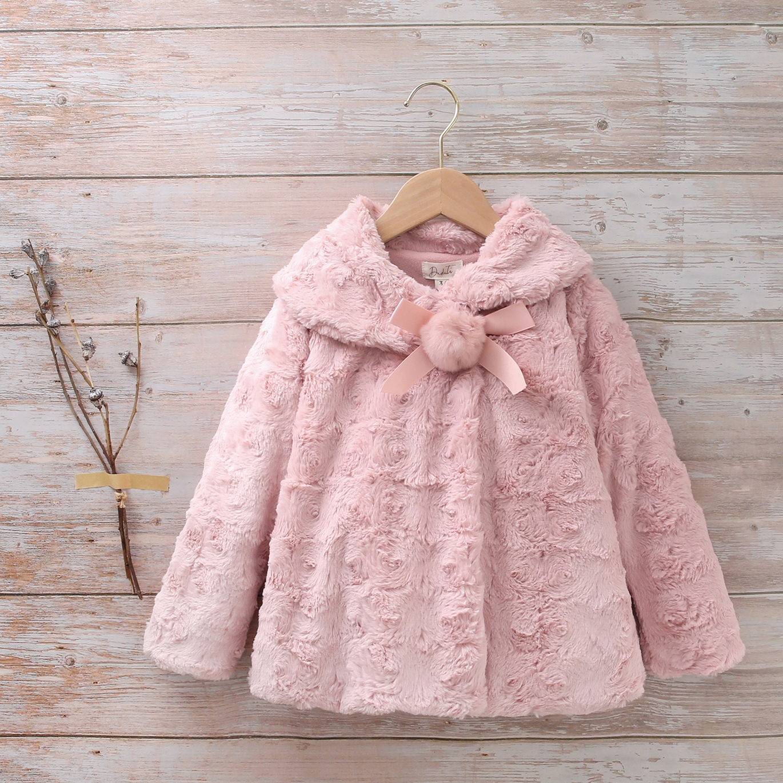 Imagen de  Abrigo niña rosa Blancanieves