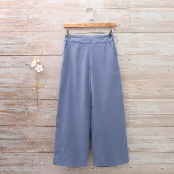 Imagen de Pantalón culotte niña de azul ancho