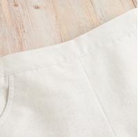 Imagen de Short teen beige tejido glitter con volante bajo