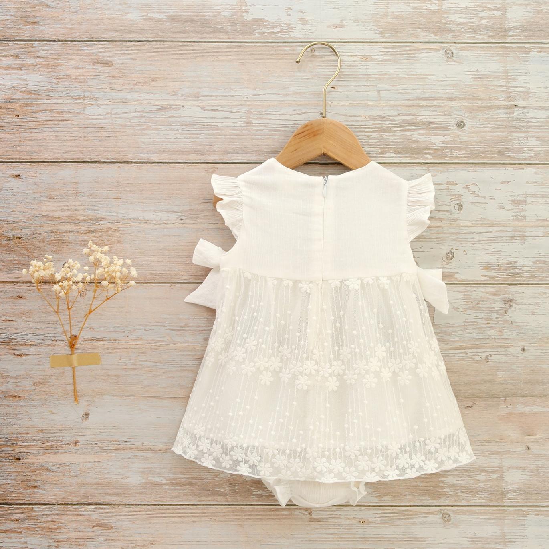 Imagen de Vestido bebé de ceremonia con encaje bordado