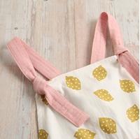Imagen de Vestido bambula rosa de tirantes detalle limones