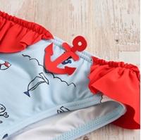 Imagen de Culetín bebé con estampado pirata azul y rojo