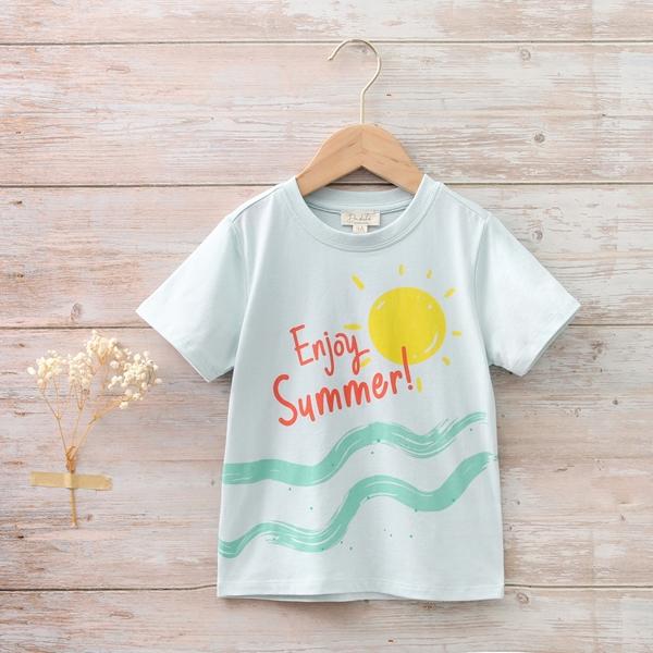 Imagen de Camiseta niño verde estampado ananas