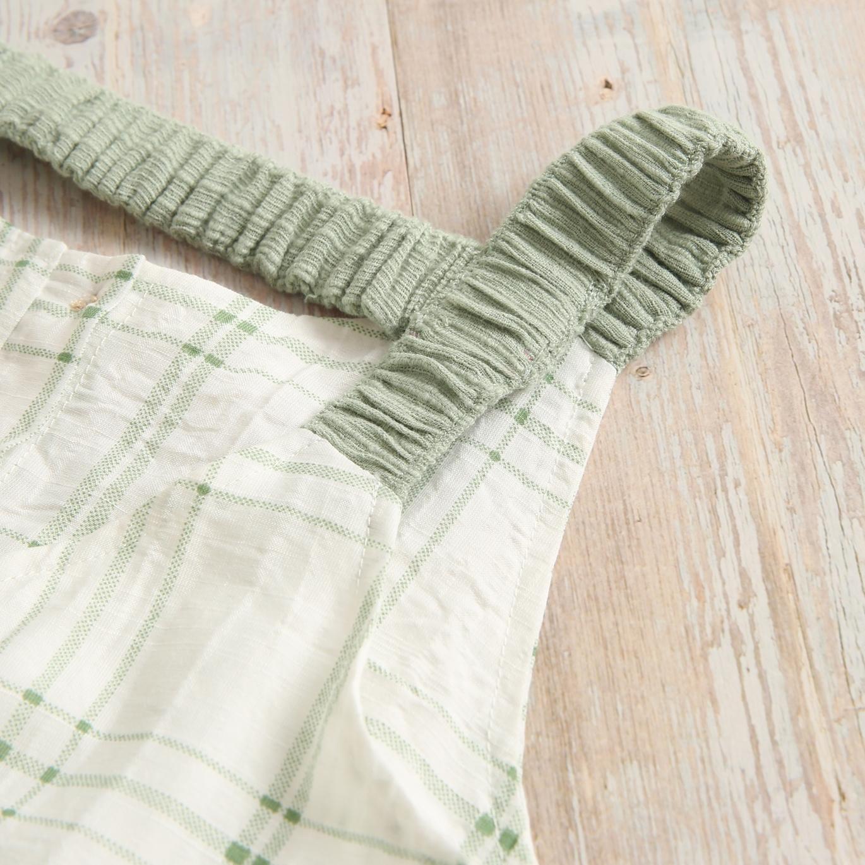 Imagen de Mono teen cuadros verdes con tirantes goma