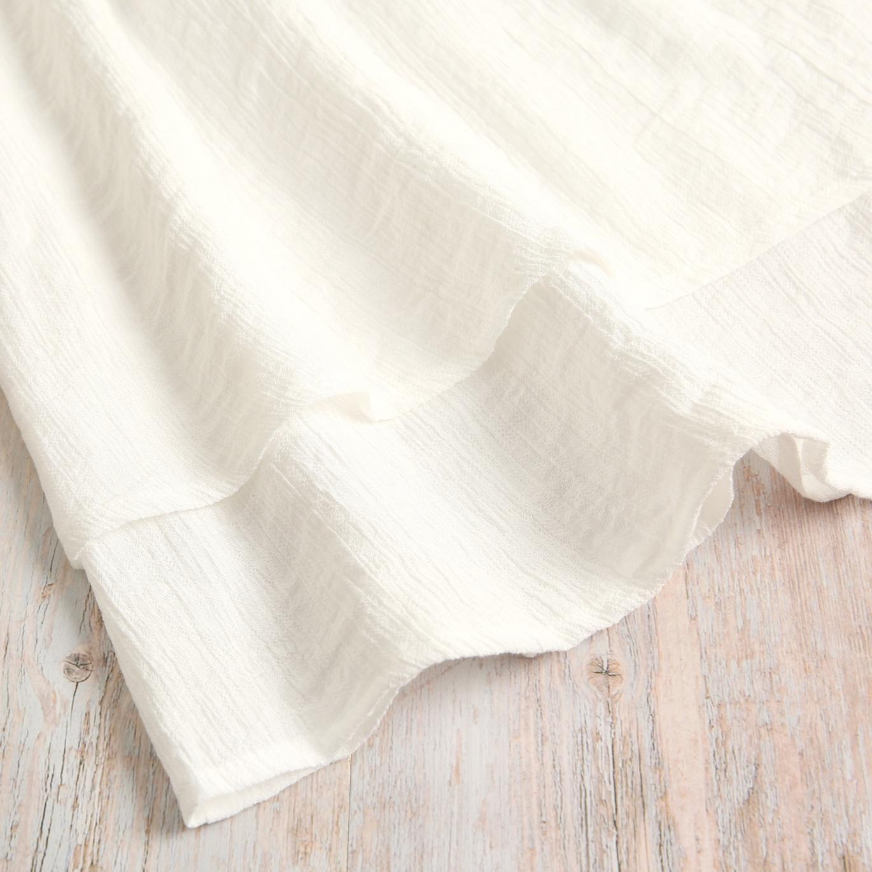 Imagen de Vestido niña de ceremonia con encaje bordado blanco
