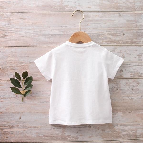 Imagen de Camiseta bebé algodón blanca estampado huellas perros