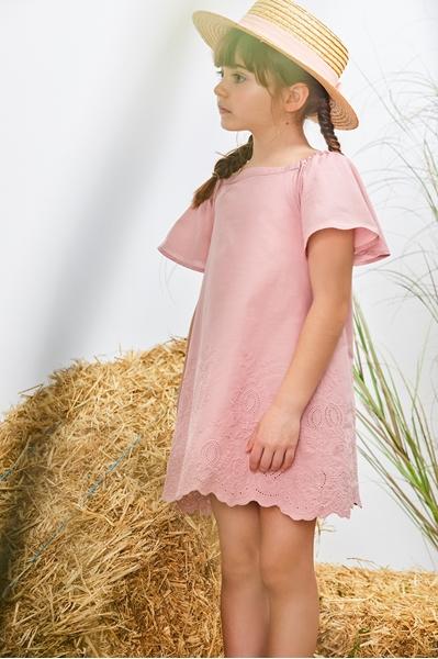 Imagen de Vestido niña bordado rosa