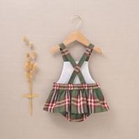 Imagen de Pichi de bebé niña de cuadros verde-granate escoceses