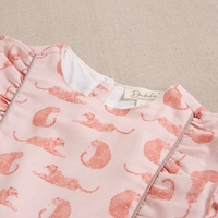 Imagen de Vestido de niña rosa con estampado de leopardos