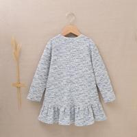 Imagen de Vestido de niña tejido tweed azul