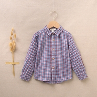 Imagen de Camisa de niño de cuadros azul-granate