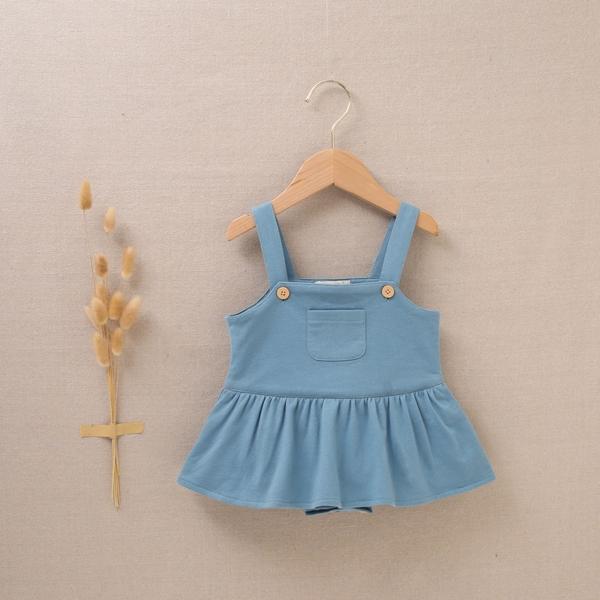 Imagen de Pichi de bebé niña felpa verde azul