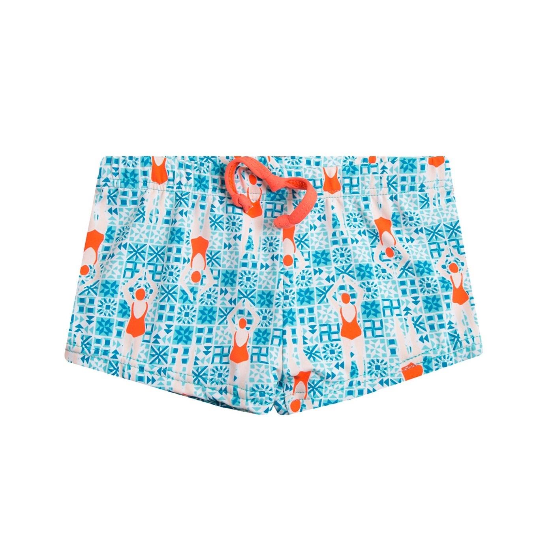 Imagen de Bañador de bebé niño tipo boxer con estampado de nadadoras