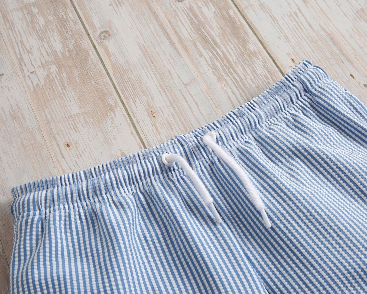 Imagen de Bañador niño de rayas azules y blancas