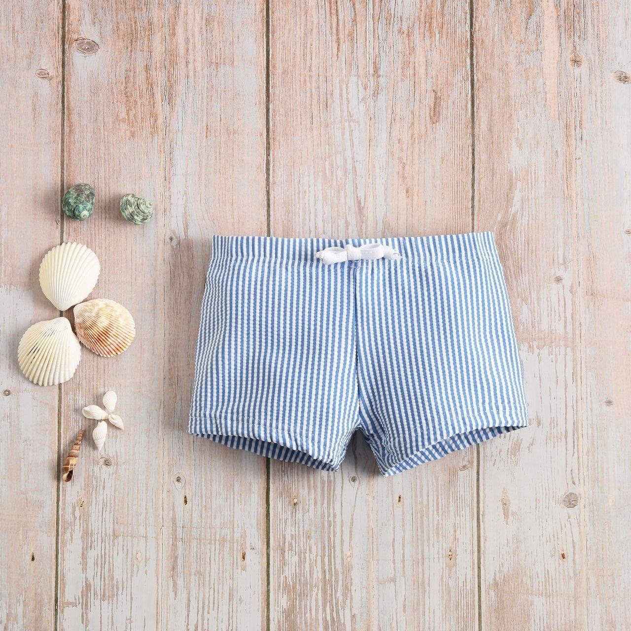Imagen de Bóxer bebé de rayas azules y blancas