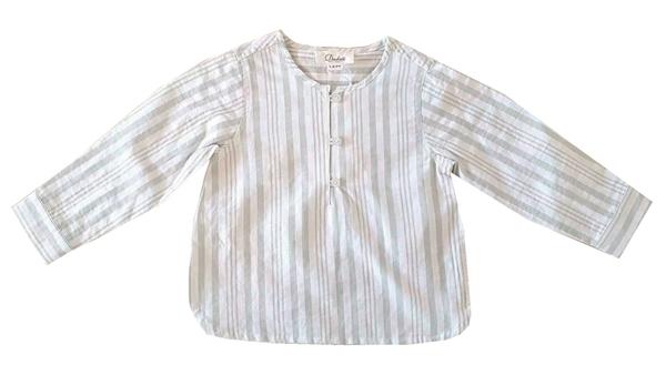 Imagen de Camisa bebé niño de rayas verdes y blancas