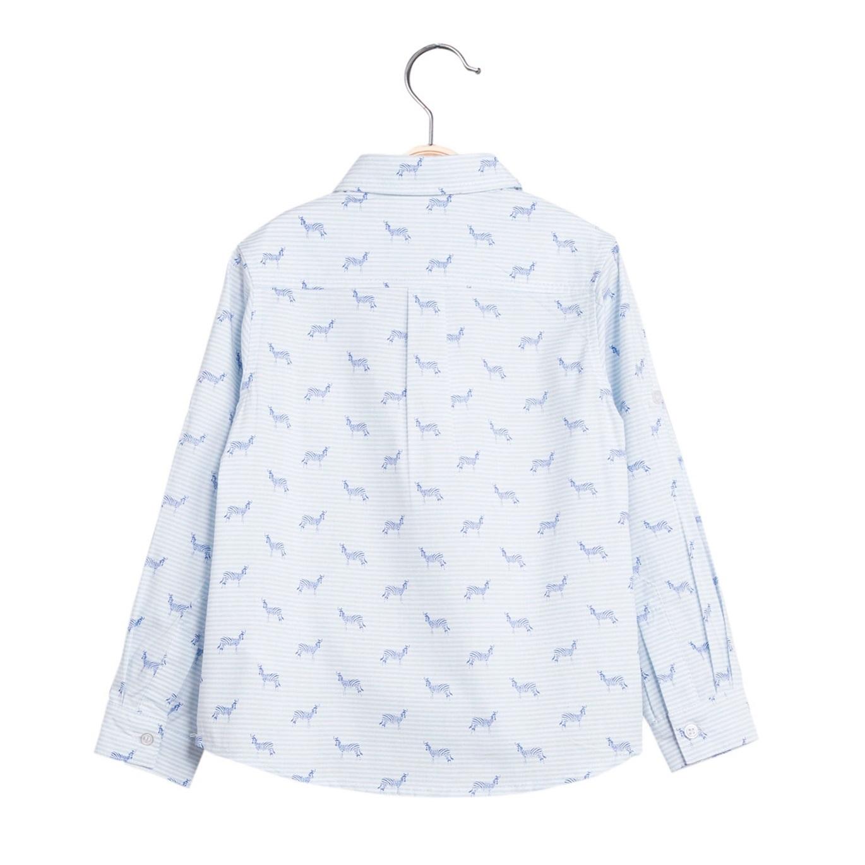 Imagen de Camisa de niño con estampado de cebras y manga larga
