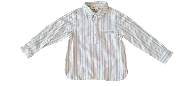 Imagen de Camisa niño de rayas verdes y blancas