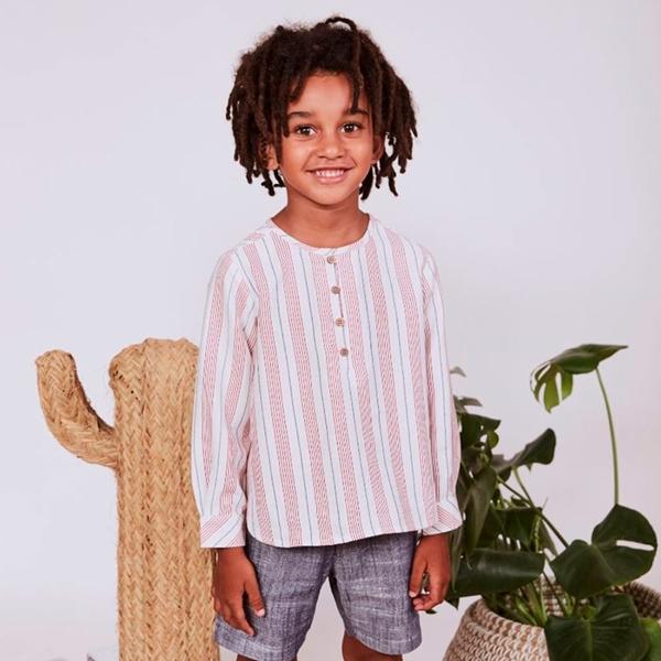 Imagen de Camisa niño rayas cuello mao