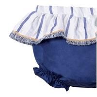 Imagen de Ranita de bebé niña en azul con volante
