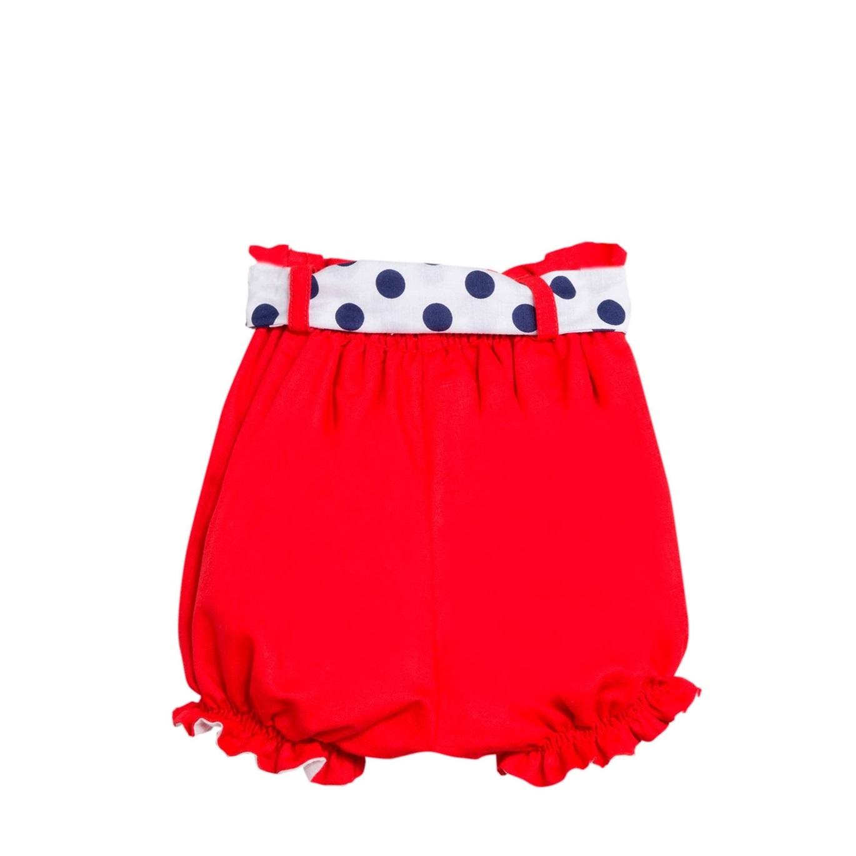 Imagen de Short de niña en rojo tipo bombacho