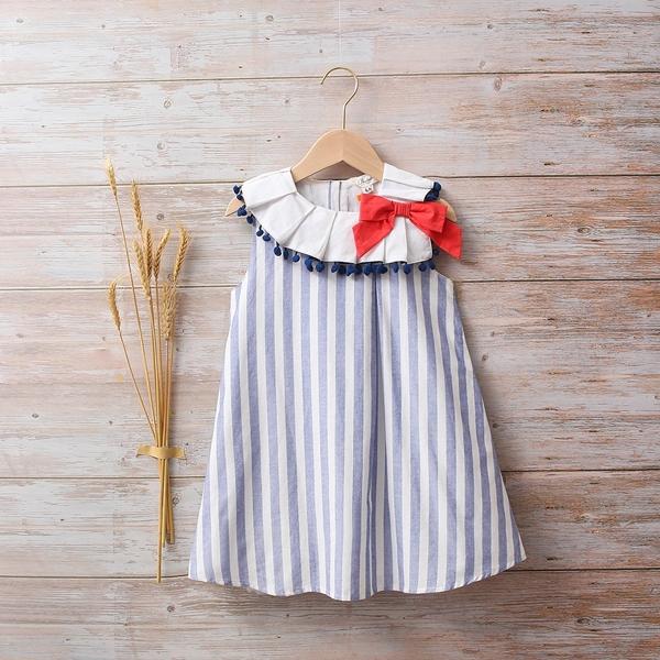 Imagen de Vestido bebé Náutica de rayas azules