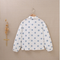 Imagen de Blusa de niña de estampado de lunares con lazo