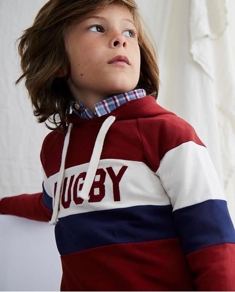 Imagen de Sudadera de niño rugby con capucha