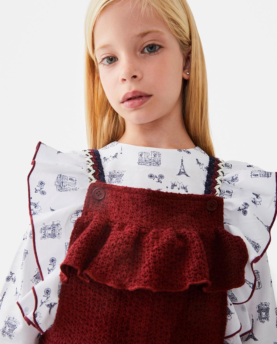 Imagen de Blusa de niña estampado paris con volantes