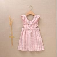 Imagen de Pichi de niña vichy rosa-blanco